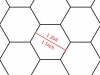 Transparent Grid Sheet A2 Hexagon 1 Inch