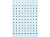 Selbstklebende Zahlen 1-540, Papier