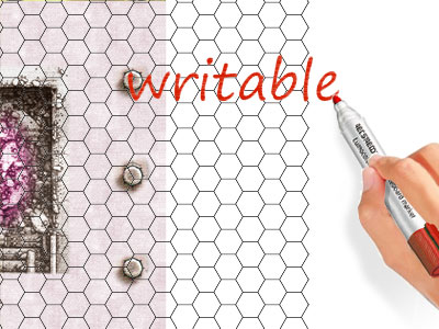 Write on the Board: All transparent sheets are writable with whiteboard markers.