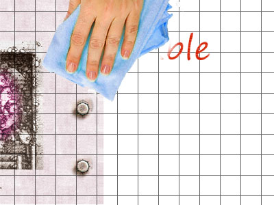 Erase Writing: With a cloth you can erase your writing.